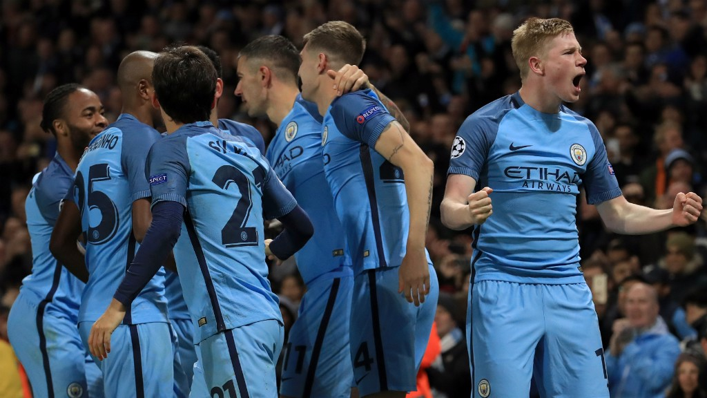 DIAMOND DE BRUYNE: The Belgian produced another excellent display against Barcelona