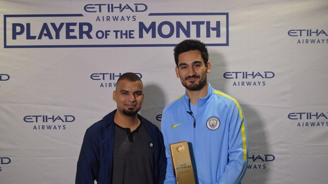 Gundogan receives the October award
