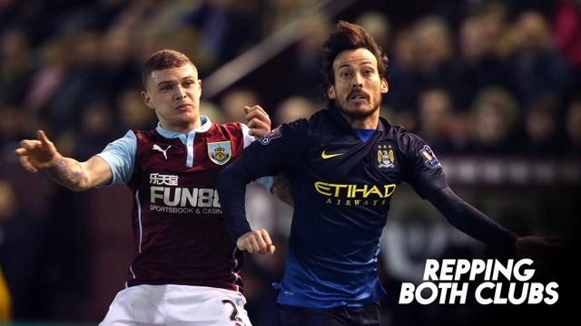 REPPING BOTH CLUBS: Burnley v City