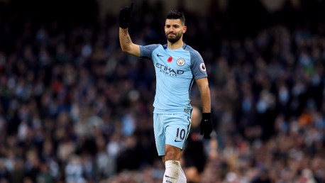 GOALS GALORE: Sergio Aguero is the City player who's scored the most goals on FIFA.