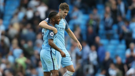 TOGETHER: John Stones and Raheem Sterling are impressing in both City and England shirts
