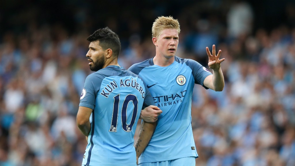 Image result for Aguero and de bruyne