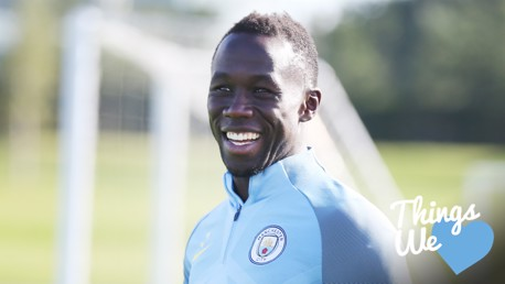 WORK HARD, PLAY HARD: Bacary Sagna has been putting in the hard yards in the gym