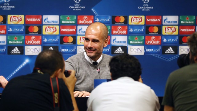 SMILES: Pep is looking forward to facing his old club in tomorrow's Champions League tie
