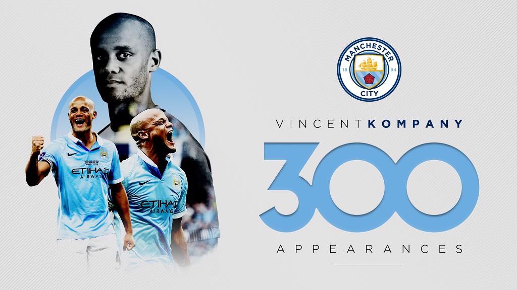 KOMPANY MAN: 300 appearances for Vincent