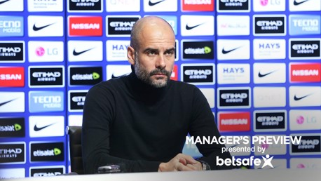 PREPARED: Guardiola and his squad face Sunderland on Sunday
