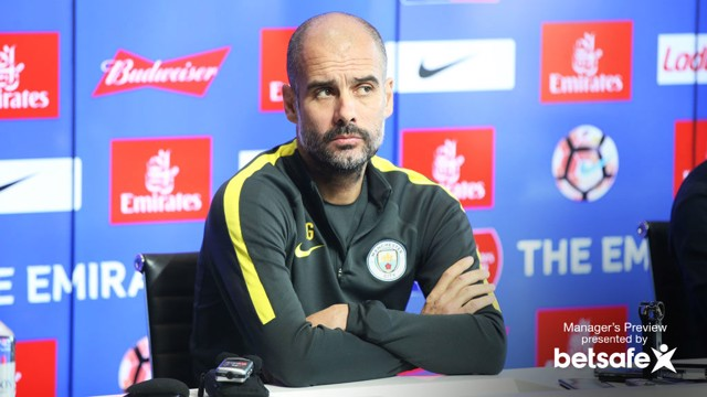 UP FOR THE CUP: Guardiola is excited by his FA Cup debut