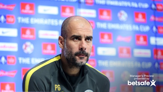 THE BOSS: Guardiola has close to a full-strength squad