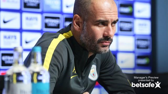 PEP TALK: The boss addresses the media ahead of West Ham test