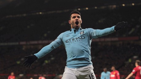 AGUERO: City's striker is working his way up the list