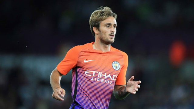 FIRST GOAL   Aleix Garcia scores his first goal for City in a 1-2 win at the Liberty Stadium