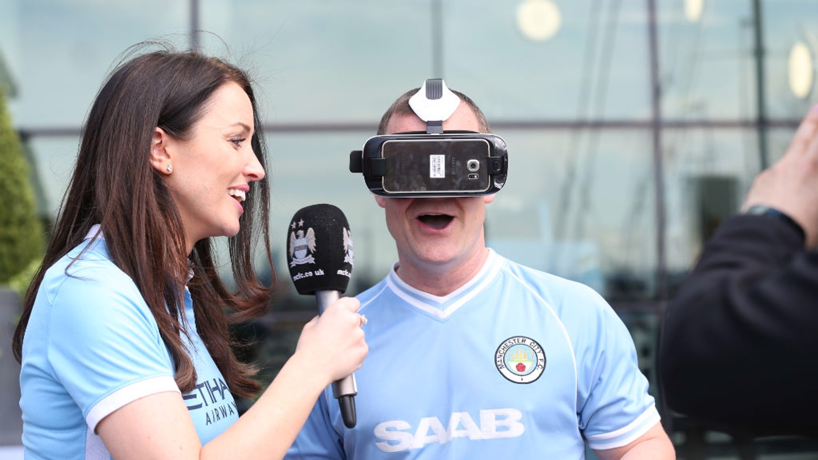 DIFFERENT VIEW: City Square's Danny Jackson experiences the live virtual reality trial in May 2015.