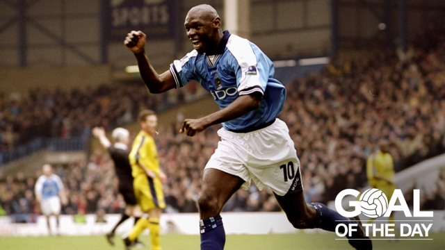 GREAT GOATER: A stunning volley to against Charlton from Shaun Goater