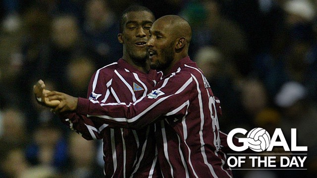 STAR SHOWING: Anelka was the difference maker against West Brom in 2002.