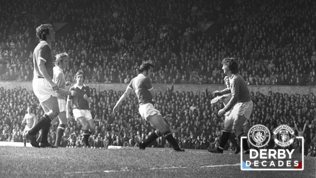 70s City: Dennis Law's back heel is one of the iconic derby moments of that era.