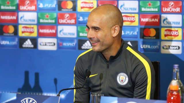 READY FOR RAUCOUS: Pep Guardiola excited to play in front of intense Celtic atmosphere