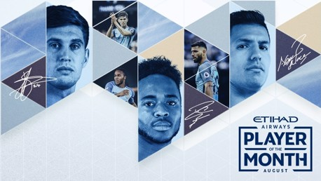 Aguero, Sterling and Stones up for Etihad award
