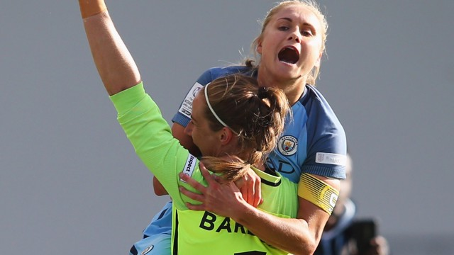 SCREEEEEEAM: Houghton and Bardsley celebrate victory!