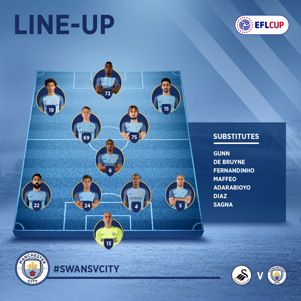 THE TEAM: Nine changes to the City XI