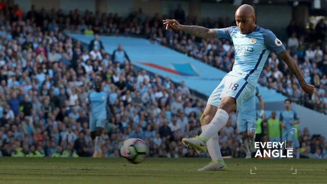 FAB STRIKE: Delph's goal from every angle...