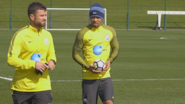 RETURN: Gabriel Jesus is back in training