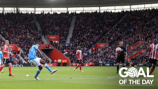 GOAL OF THE DAY: Iheanacho curls a beauty into the top corner against Southampton in 2016