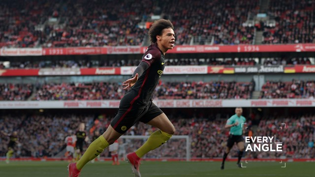 STARMAN: Leroy Sane's goal against Arsenal from every angle possible