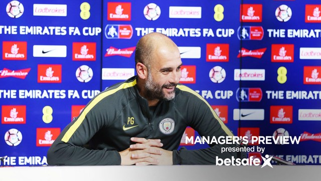 PREVIEW: Pep Guardiola speaks to journalists ahead of the FA Cup semi-final.