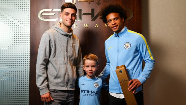 WINNER: Leroy Sane was voted Etihad Airways Player of the Month for February and March.