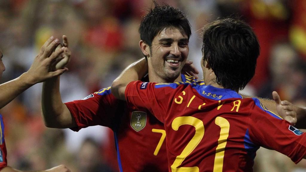 REENCUENTRO. David Silva y David Villa volverán a coincidir con España.