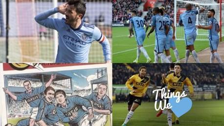 THINGS WE LOVE: Man Garcia, Vincent Kompany, David Villa and Oasis.