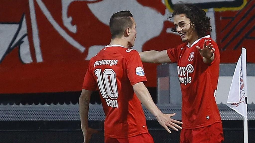 LOAN STARS: Bersant Celina and Enes Unal both scored for FC Twente against PSV