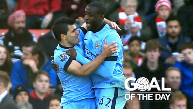 YAYA! Another vital strike from the Ivorian