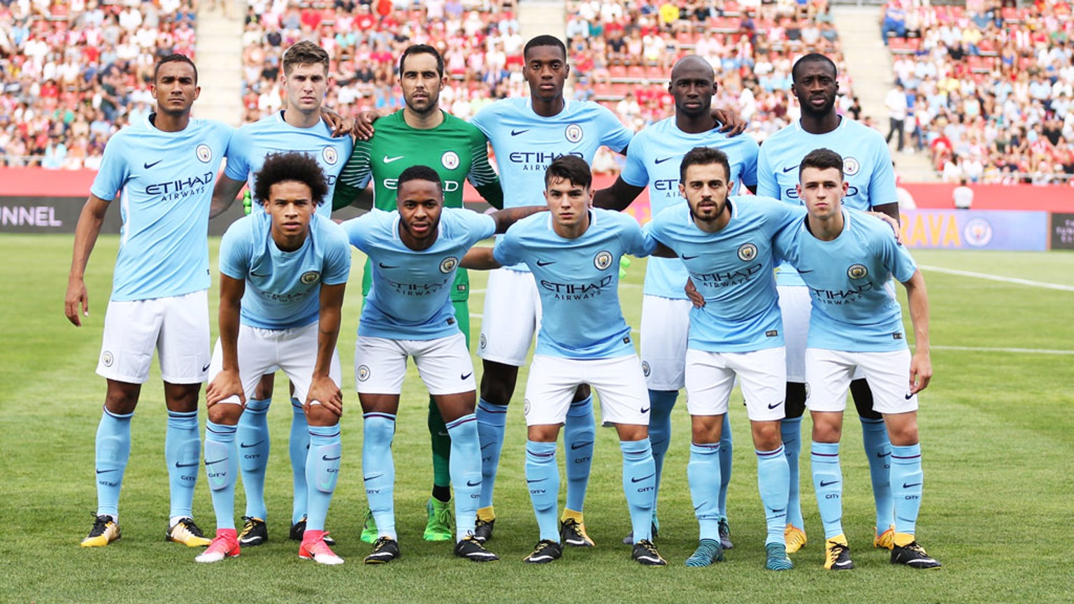 FRIENDLY ACTION: City played Girona in Catalonia on Tuesday