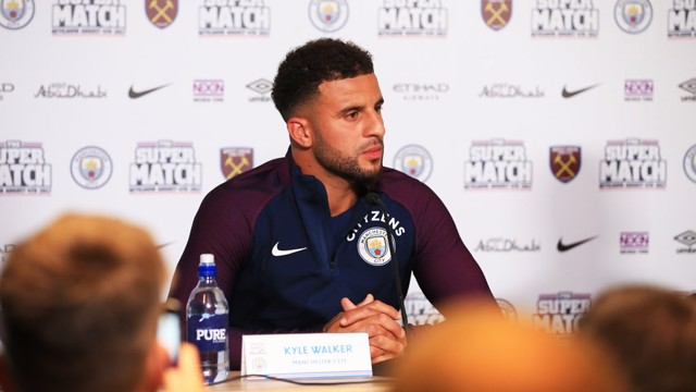 PRESS CONFERENCE: Kyle Walker faced the media with Pep Guardiola in Iceland.