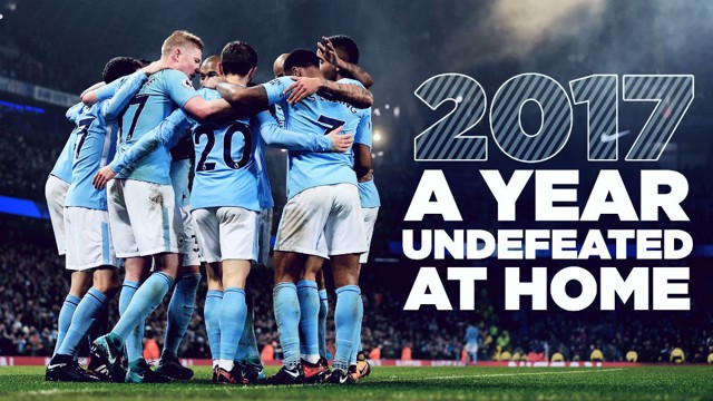 UNBEATEN: City have gone the entire calendar year of 2017 unbeaten at the Etihad
