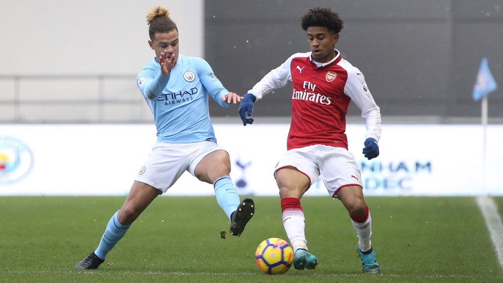 CITY v ARSENAL: The two Premier League 2 sides met at the Academy Stadium.