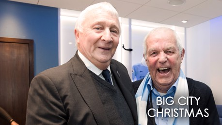 SURPRISE: Lifelong City fan, Barry, met a host of legends at the Spurs game.