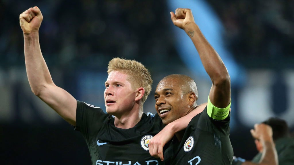 Image result for kevin de bruyne celebrate 2017/18 v napoli