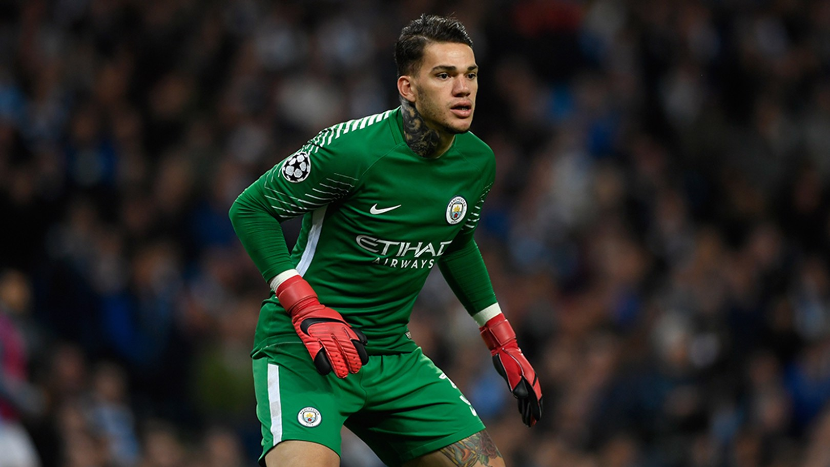 TAKING CHARGE: Ederson takes stance for City