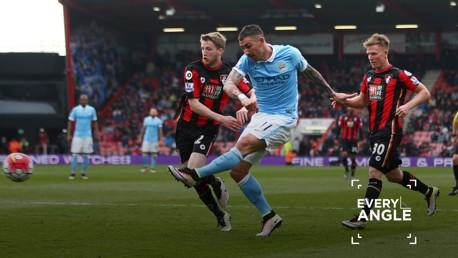KOLA-ROCKET: Aleks Kolarov netted a worldie against Bournemouth in April 2016