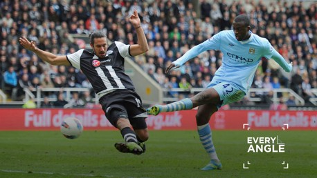 YAYA: Toure scored a vital goal as City closed in on the 2012 Premier League title