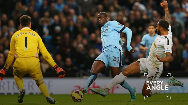 EVERY ANGLE REBOOT: A look back at Yaya Toure's fine goal against Swansea in 2014