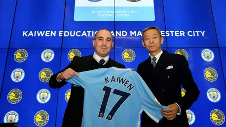 EDUCATION PROGRAMME: The Kaiwen Manchester City Football School.