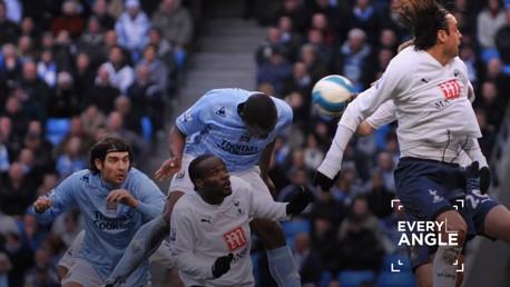 BULLET HEADER: Nedum Onuoha bags the winner against Tottenham in March 2008