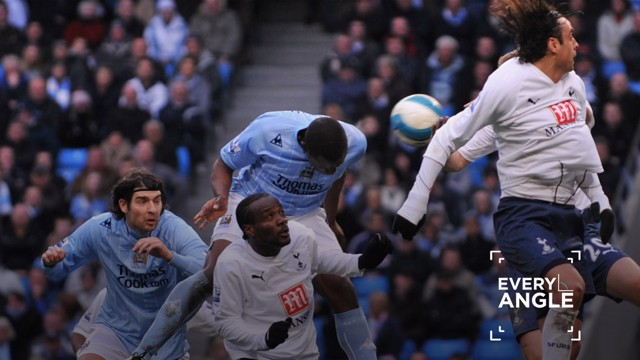 BULLET HEADER: Nedum Onuoha bags the winner against Tottenham in March 2008