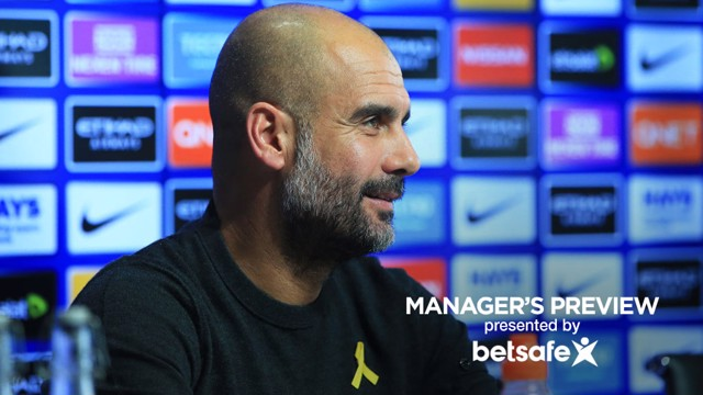 PEP GUARDIOLA: The boss speaks ahead of City's game.