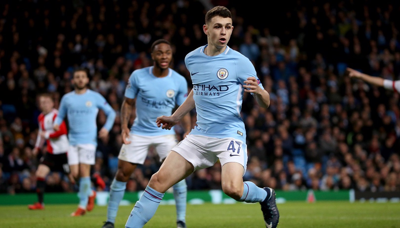 STAR: Phil Foden has set a new Champions League record