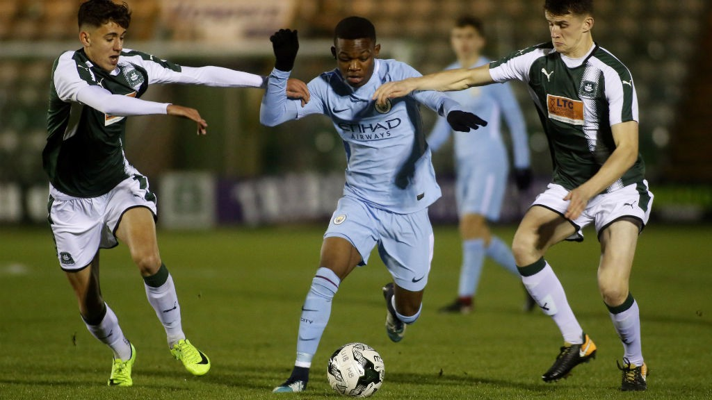 FA YOUTH CUP: City were in action against Plymouth Argyle at Home Park.