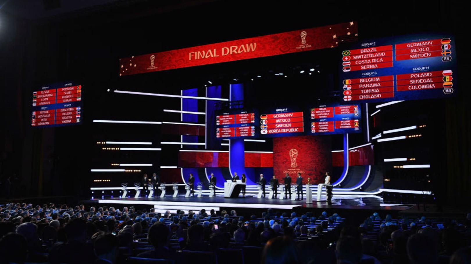تم تحديد مجموعات نهائيات كأس العالم 2018 في روسيا